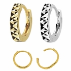 14K Gold Diamond-Cut Hinged Single Hoop Ring for Cartilage, Helix, Earlobe