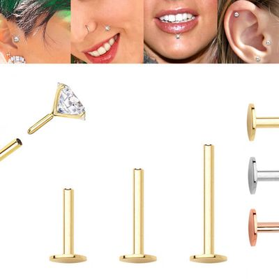 14K Gold Replacement Flat Back BJF Push-In Post