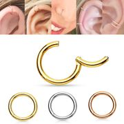 14K Gold Seamless Clicker Ring - Cartilage, Daith, Nose, Septum