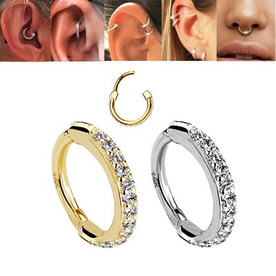 14K Gold Versatile Orbital Clicker Ring for Cartilage, Helix, Daith, Rook, Earlobe, Septum