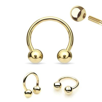 14K Solid Gold Horseshoe Ring for Cartilage, Tragus, Helix, Daith, Rook, Septum, and More