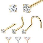 14K Gold Nose Stud (Choose from 108 Options)