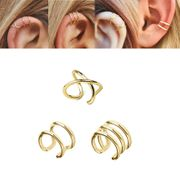 14K Solid Gold Cartilage Cuff - Helix, Conch