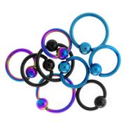 316L 16G Anodized Ball Closure Ring