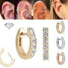 DIAMOND 14K Gold Cartilage Helix Huggie Hoop Single Earring  (VS, 0.15 ct)