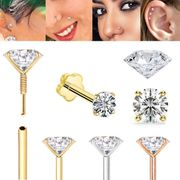 DIAMOND Threaded Flat Back Stud with Easy Guide Pin