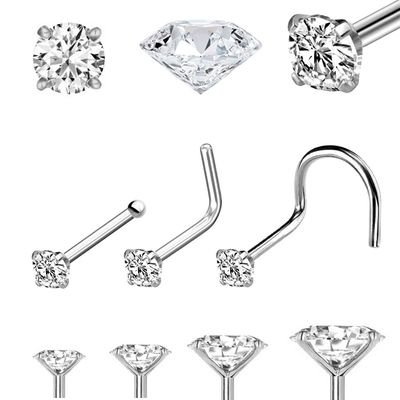 DIAMOND Low-Profile Platinum Nose Stud