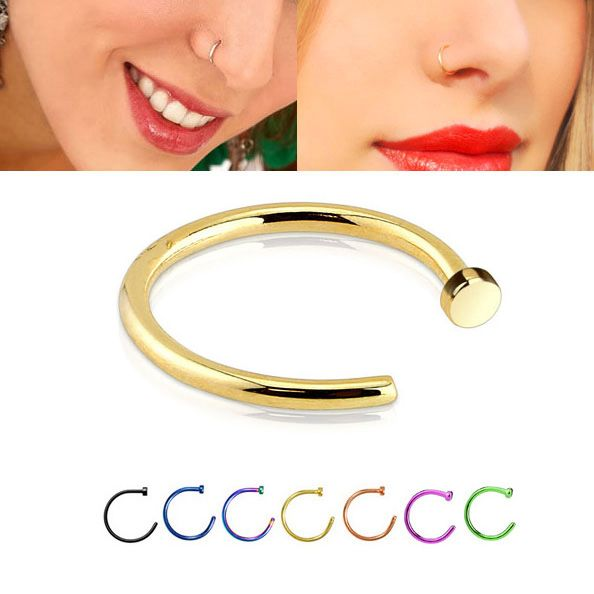 Easy Fit Anodized 316l Open Nose Hoop