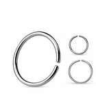 G23 Solid Titanium Continuous Ring for Nose, Cartilage, Helix - 20G