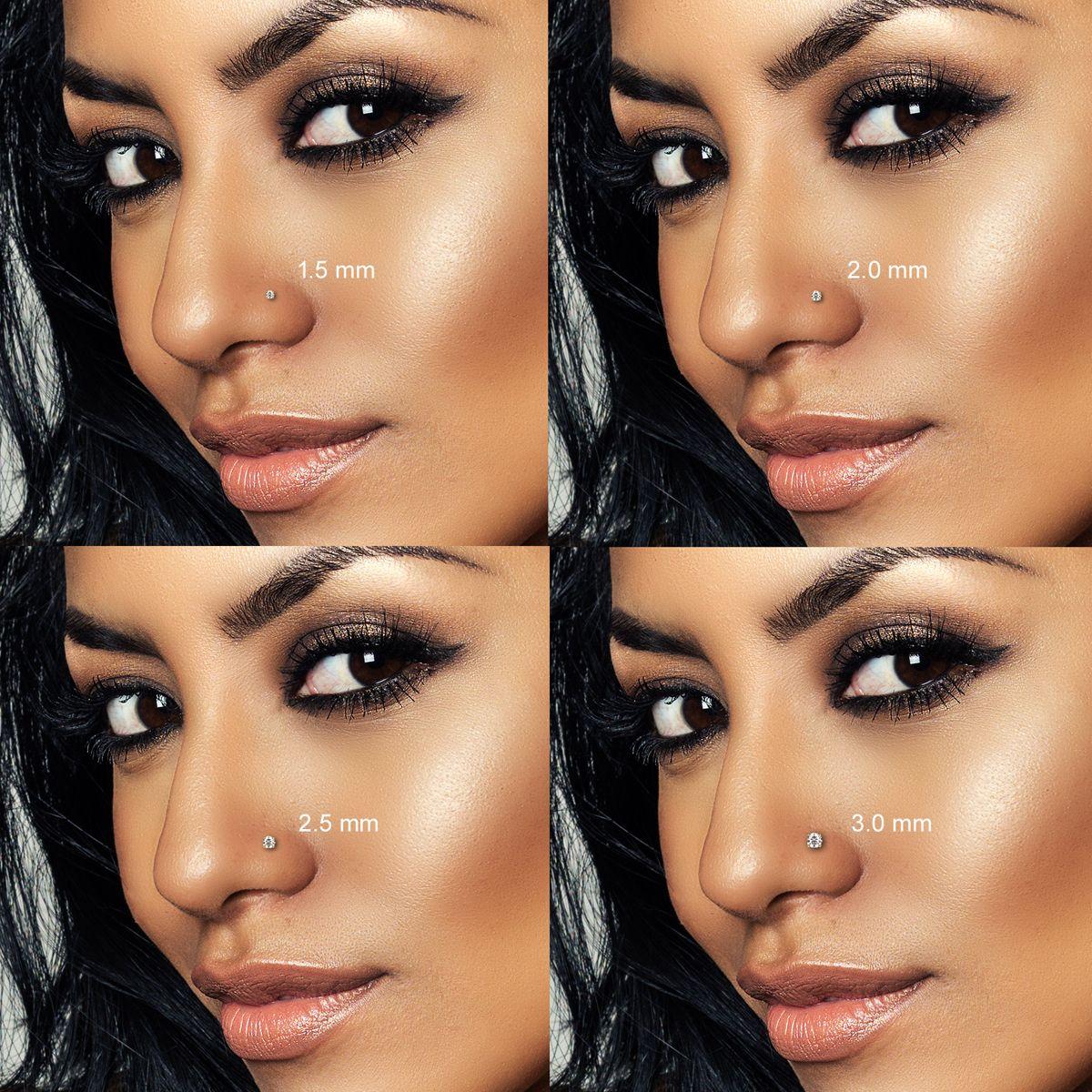 14k Solid Gold L Shaped Nose Ring Custom Fit