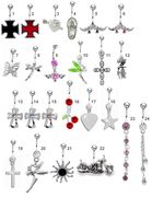 316L Mix and Match Fancy Belly Button Ring