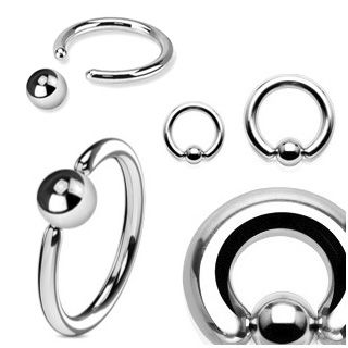 2 for Captive Rings 5mm Balls Black IP Body Jewelry Replacement Balls