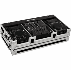 "MARATHON ® FLIGHT ROAD CASE ™ CASE MA-CDI12W ™ Coffin Holds 2 x MEDIUM Format CD Players: American Audio Radius, CDI-300, 500, Pioneer CDJ-400, CDJ-200 plus 12"" mixer with low profile wheels"