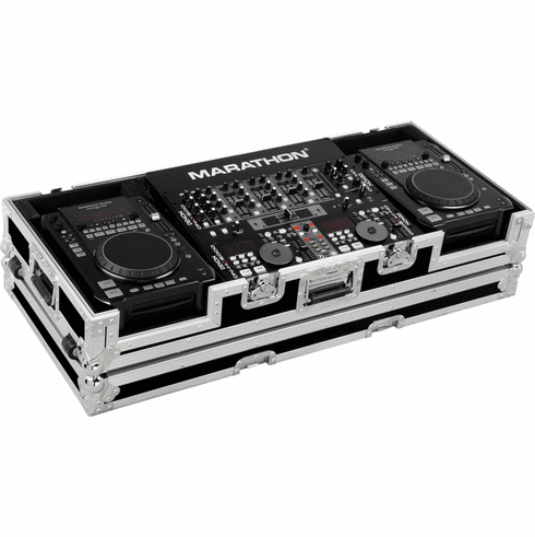 "MARATHON ® FLIGHT ROAD CASE ™ CASE MA-CDI19W ™ CASE FOR 2 X AMERICAN AUDIO CDI PLAYERS+ 19"" MIXERS WITH WHEELS"