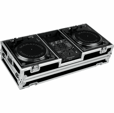 "MARATHON ® FLIGHT ROAD CASE ™ CASE MA-DJ10W - BATTLE ™ Holds 2 Turntables in BATTLE STYLE position with 10"" mixer with low profile wheels: holds 10"" mixers such as: Rane TTM56, TTM57SL, Numark DXM models, Vestax, Gemini, Behringer, Denon DN-X100,"