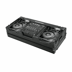 "MARATHON ® FLIGHT ROAD CASE ™ CASE MA-CDJ9H12WBLK ™ <br>""BLACK Series"" Coffin holds 2 x Large format CD players: Pioneer CDJ 900 plus 12"" mixer DJM800, Behringer DJX-750, DDM-4000, Denon DN-X1500, DN-X1100, DN-X1700 with low profile wheels"
