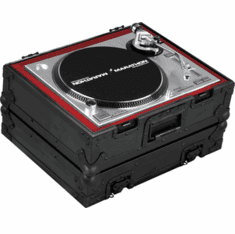 MARATHON ® FLIGHT ROAD CASE ™ MA-1200V2BLK ™ Heavy Duty Turntable Deluxe Case with Full Removable Cover
