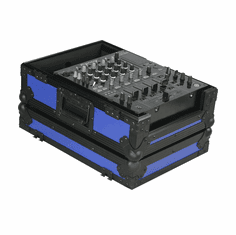 """MARATHON ® FLIGHT ROAD CASE ™ MA-12MIXBLKBLUE ™ Blue-""""BLACK Series"""" 12"""" Mixer Case Fits Large Format 12"""" Mixers and all other 12"""" brands"""