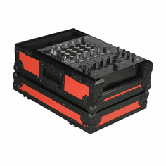 """MARATHON ® FLIGHT ROAD CASE ™ MA-12MIXBLKRED ™ Red-""""BLACK Series"""" 12"""" Mixer Case Fits Large Format 12"""" Mixers and all other 12"""" brands"""