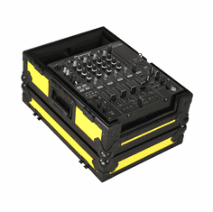 """MARATHON ® FLIGHT ROAD CASE ™MA-12MIXBLKYLW ™ """"YELLOW-BLACK Series"""" - 12"""" DJ Mixer Case fits Large Format 12"""" Size Mixers such as Pioneer DJM-800, DJM-700, Behringer DDM-4000, DJX-750, Denon DNX-1500, DNX-1100, DN-X1700 and ALL OTHER 12"""" BRANDS"""