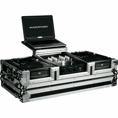 MARATHON ® FLIGHT ROAD CASE ™ MA-CDI10WLT ™ LAPTOP COFFIN CASE Holds 2 x Medium Format CD Players: American Audio CDI-300, 500, Numark ICDX, Gemini CDJ, ICDJ, ICFX, MPX30, CFX20, Denon DN-S1000, Pioneer CDJ100, CDJ200, CDJ400, Numark Axis 9, 8, 4, 2 players