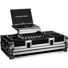 "MARATHON ® FLIGHT ROAD CASE ™ MA-CDJ12WLT ™ LAPTOP COFFIN CASE Holds 2 x Small Format CD Players: Gemini CDJ,MPX30, CFX20, Pioneer CDJ100, 200, CDJ-400 Denon DN-S1000, DN-S1200, Numark Axis 9 players + 12"" Mixer: Pioneer DJM600, 800, 300, Behringer DJX700, DDM-4000, Gemini CS02, Denon DN-X1500, Numark 5000FX, Allen & Heath Xone, American Audio MX-1400, MX 14000DSP with low profile wheels & Laptop Shelf to hold up to a 17"" laptop holds mixers up to 8U rack space."
