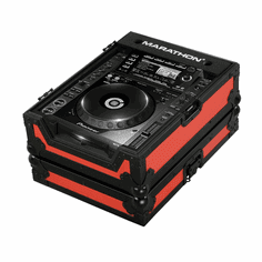 """MARATHON ® FLIGHT ROAD CASE ™ MA-CDJ2000BLKRED ™ """"RED-BLACK Series"""", Case for Pioneer CDJ-2000, and all other Large Format CD/Digital Turntables"""