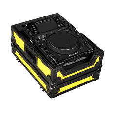 """MARATHON ® FLIGHT ROAD CASE ™ MA-CDJ2000BLKYLW ™ """"YELLOW-BLACK Series"""" - Case for Pioneer CDJ2000 and ALL OTHER LARGE FORMAT CD / DIGITAL TURNTABLES"""