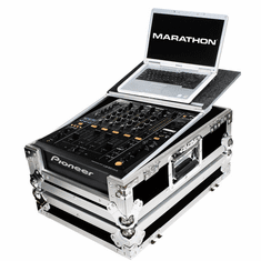 MARATHON ® FLIGHT ROAD CASE ™ MA-DJM900LT ™ Case to Fit x 1 Pioneer DJM-900 Nexus Club Mixer Controller + Laptop Shelf