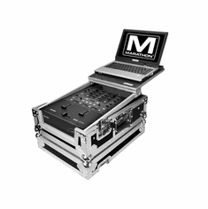 MARATHON ® FLIGHT ROAD CASE ™ MA-RN61LT ™ CASE TO FIT ONE RANE SIXTY-ONE SERATO MIXER CONTROLLER OR ANY EQUAL SIZE MIXER + LAPTOP SHELF