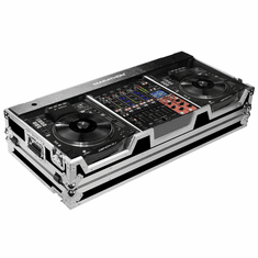 "MARATHON ® FLIGHT ROAD CASE ™ MA-SC390012W CASE COFFIN HOLDS 2 X LARGE FORMAT CD PLAYERS: DENON SC3900 + 12"" MIXER: DNX1100, DNX1600, DNX1700, DJM800, DJM850, DJM900 W/ LOW PROFILE WHEELS"