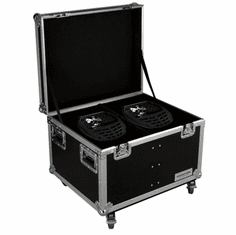MARATHON ® FLIGHT ROAD CASE ™ MA-SNIPER2R2PACKW CASE TO HOLD 2 X ELATION SNIPER 2R LIGHT EFFECT - STACKABLE WITH CASTER DISH PLATE
