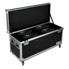 MARATHON ® FLIGHT ROAD CASE ™ MA-SNIPER2R4PACKW CASE TO HOLD 4 X ELATION SNIPER 2R LIGHT EFFECT - STACKABLE WITH CASTER DISH PLATE