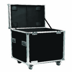 """MARATHON ® FLIGHT ROAD CASE ™ MA-TUT222226W UTILITY TRUNK CASE - EXTERIOR 22""""W X 22""""H X 26""""D  WITH CASTER KIT AND STACKABLE CASTER DISH"""