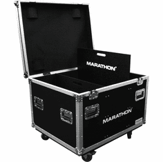 MARATHON ® FLIGHT ROAD CASE ™ MA-TUT303724W Utility Trunk Case with Caster Kit and Stackable Caster Dish