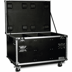 """MARATHON ® FLIGHT ROAD CASE ™ MA-TUT462127W UTILITY TRUNK CASE - EXTERIOR 46""""W X 21""""H X 27""""D  WITH CASTER KIT AND STACKABLE CASTER DISH"""