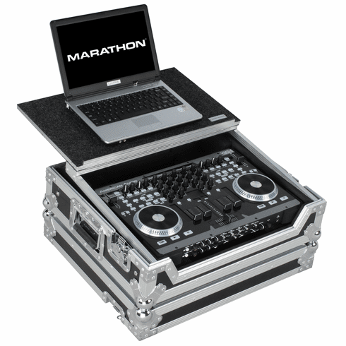 MARATHON ® FLIGHT ROAD CASE ™ MA-VMS4LT ™ Case to hold 1 x American Audio VMS4 Music Controller plus Laptop Shelf