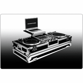"MARATHON ® FLIGHT ROAD CASES ™ DJ TURNTABLE COFFINS WITH ""PATENT PENDING DESIGN LAPTOP SHELF"""