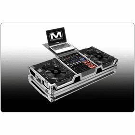 "MARATHON ® FLIGHT ROAD CASES ™ DJ CD PLAYER & CD TURNTABLE COFFINS WITH ""PATENT PENDING DESIGN LAPTOP SHELF"""