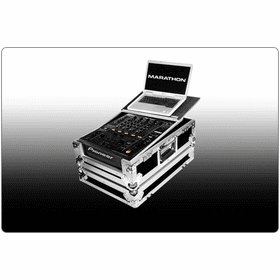 "MARATHON ® FLIGHT ROAD CASES ™ FOR PIONEER DJ MIXER WITH ""PATENT PENDING DESIGN LAPTOP SHELF"""