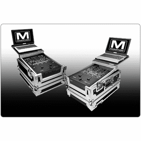 "MARATHON ® FLIGHT ROAD CASES ™ FOR RANE DJ MIXERS WITH ""PATENT PENDING DESIGN LAPTOP SHELF"""