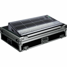MARATHON ® FLIGHT ROAD CASES ™ MA-ONYX324W CASE FOR MACKIE ONYX 32.4 MIXING CONSOLE OR ANY EQUAL SIZE FORMAT MIXING CONSOLES W/ LOW PROFILE WHEELS