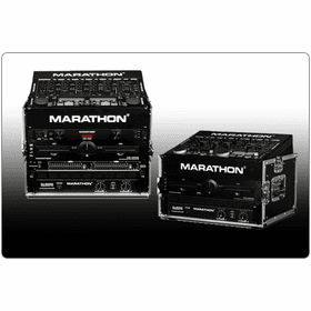 MARATHON ® FLIGHT ROAD CASES ™ SLANT RACK DELUXE CASES / RACKS / 8U SLANT RACK TOP - 14 INCH MOUNTABLE DEPTH - COMPACT - ECONOMY STYLE