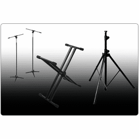 MARATHON ® KEYBOARD, MICROPHONE, SPEAKER & LIGHT STANDS