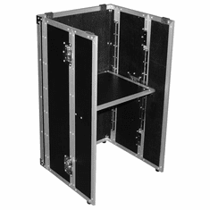 """MARATHON ® MA-STAND32 MINI ™ MINI UNIVERSAL DJ STAND FOLD OUT FOR ALL MIXER SLANT CASES 32"""" HIGH (formerly MA-DJSTAND 32 MINI)"""