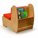 Kids Contemporary Reading Chair w/Book Storage-Made in USA