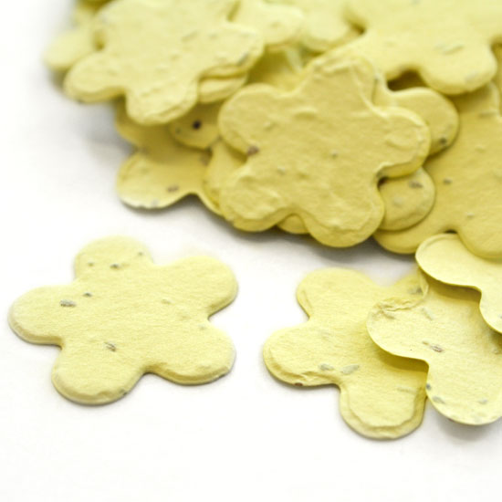Five Petal Yellow Plantable Seeded Confetti