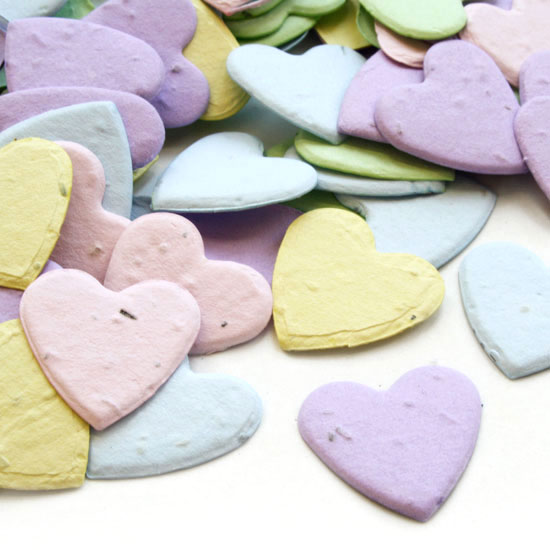 Free Sample of our Asst. Heart Plantable Confetti!
