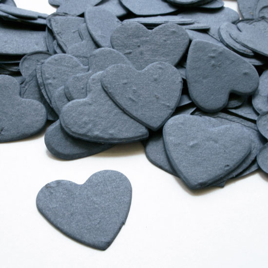 Free Sample of our French Blue Heart Shaped Confetti!