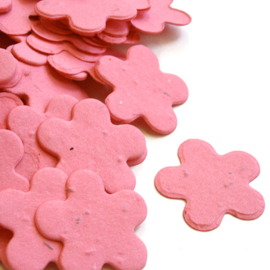 Free Sample of our Hot Pink Five Petal Confetti
